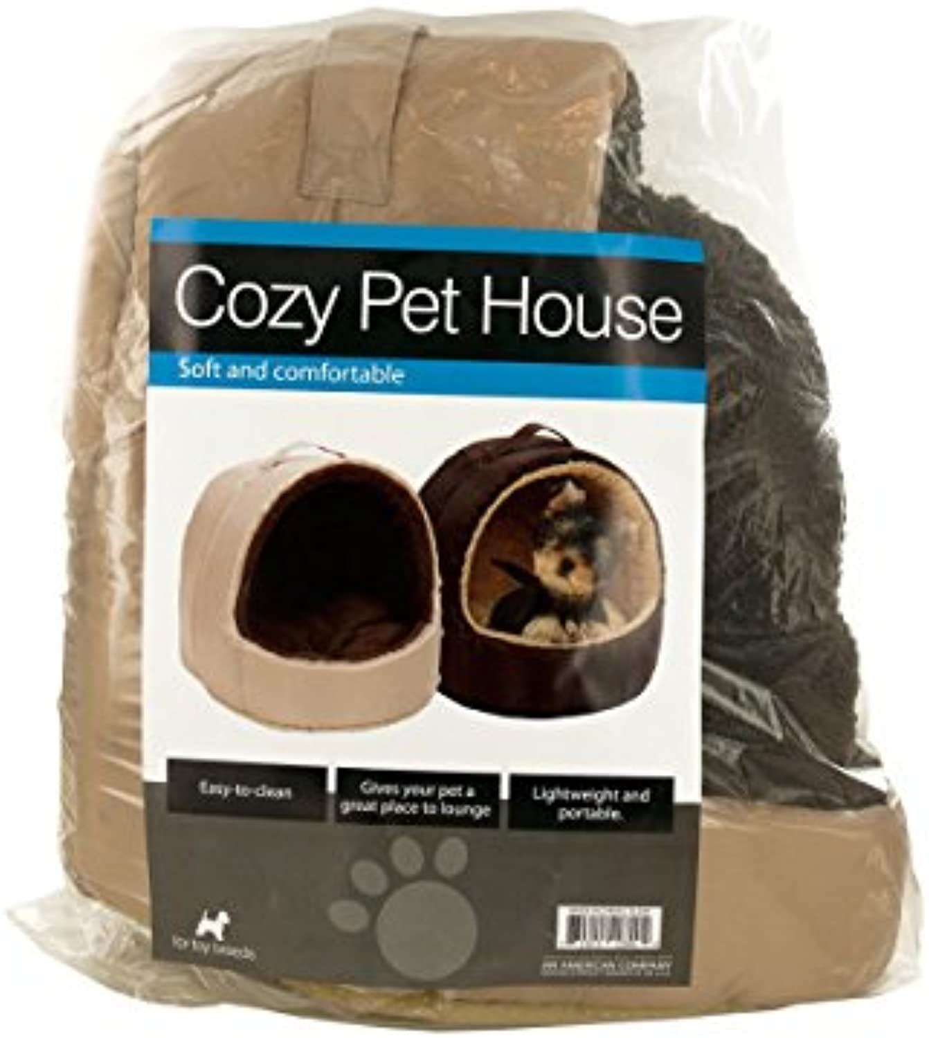 Cozy Portable Pet House with Carry Handle  Pack of 2