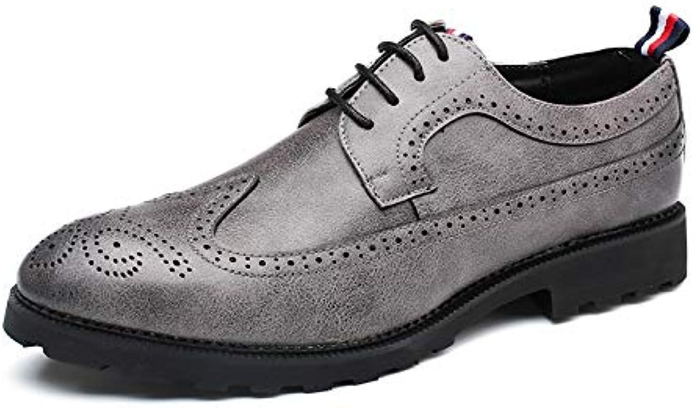 LOVDRAM Men'S Leather shoes Large Size Business Men'S shoes 47 Brock Carved 48 Retro Fashion shoes 46 Men'S Leather shoes