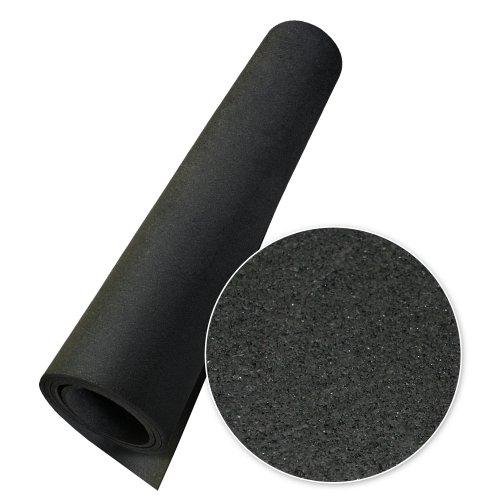 Rubber-Cal Elephant Bark Floor Mat, Black, 3/16-Inch x 4 x 20-Feet