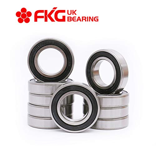 FKG 6006-2RS 30x55x13mm Deep Groove Ball Bearing Double Rubber Seal Bearings Pre-Lubricated 10 Pcs