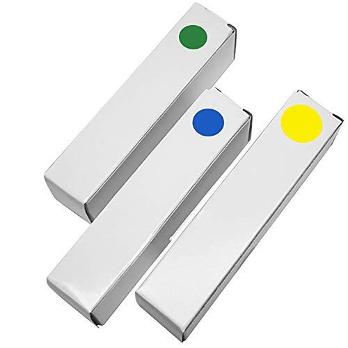 JenLn Rot gelb blau grün lila Punkt Würfel 19mm Acryl Gerade Rollenwürfeln Transparente Sieb-Set (3 Sets) Rolle Spielen Würfel (Color : Color 6, Size : 19mm)