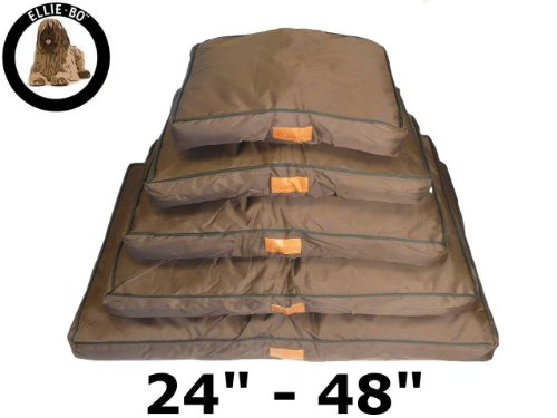 Ellie-Bo Waterproof Dog Beds in Brown - Tailor made to fit cages and crates (28' - fits 30' Medium Cage)