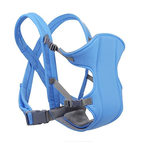 mopalwin Portabebés, ergonómico, portabebés, portabebés, portabebés, portabebés ergonómico, portabebés multifuncional, transpirable, máximo 15 kg, adecuado para bebés de 0 a 1 años (azul cielo).