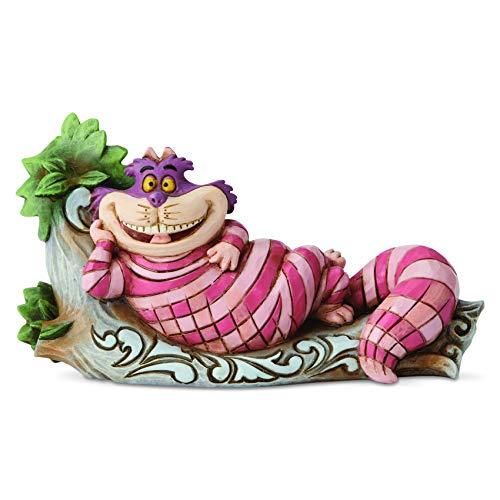 Enesco Disney Traditions by Jim Shore Alice im Wunderland Grinsekatze auf Baum, Figur, 7 cm, Mehrfarbig