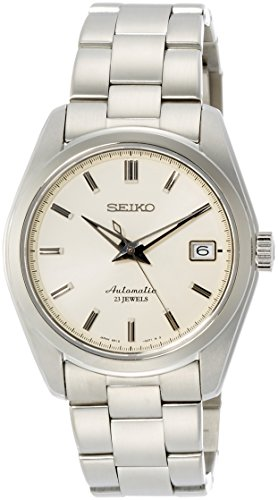 Seiko Men's Japanese-Automatic Watch with Stainless-Steel Strap, Silver, 20 (Model: SARB035)