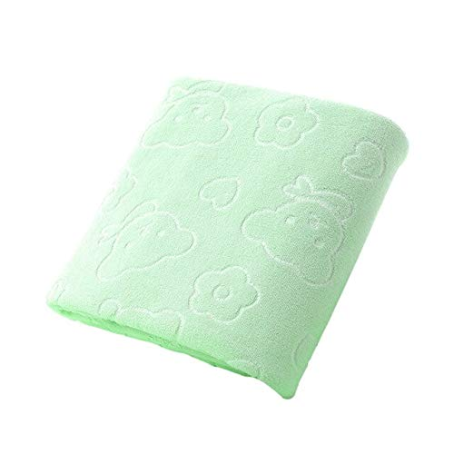 Xiaobing Toalla de baño sólida de algodón Puro para Adultos, Toalla de Playa, Secado rápido, Suave y Gruesa, Verde-C9