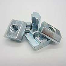 Lkjh 100st M3 M4 M5 M6 M8 M10 T Block vierkante moeren T-Track Sliding Hammer Moer for Fastener Aluminium Profiel 2020 303...