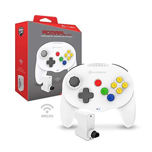 Hyperkin 'Admiral' Premium BT Controller for N64 (White) - Nintendo 64