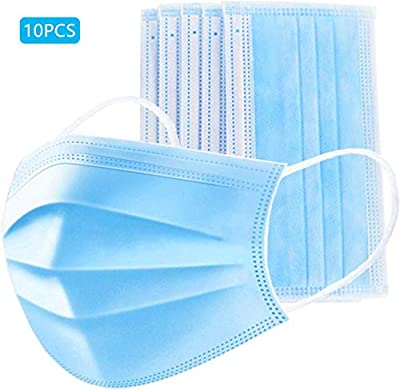 10 Pieces -Masks 3 Layer Wearing Facial Clear Cover