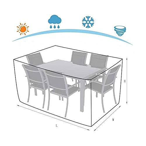 NINGWXQ Covers for Terrasmeubilair Waterproof Oxford doek Dust-proof Sun Protection Rechthoekige meubilair, diverse maten, 2 kleuren (Color : Silver, Size : 2x1x2m)