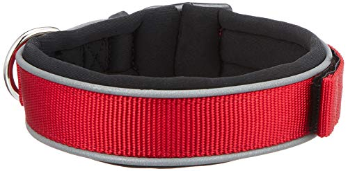 TX-20683 Premium Collar with Neoprene, Extra Wide M–L: 42–48 cm/30 mm, red
