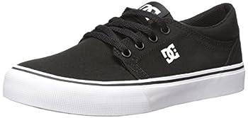 DC Men s Trase TX Skate Shoe Black/White 9 M US