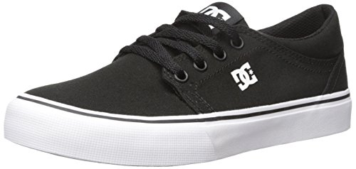 DC Shoes DC Shoes Jungen Trase Tx-Low-top Shoes for Boys Skateboardschuhe, Black/White, 37 EU