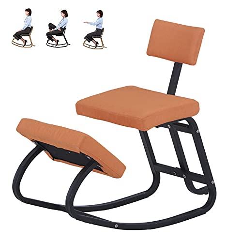 Silla de Rodillas Ergonómica con Respaldo para Arrodillarse Buena Postura para el Hogar Oficina Capacidad de 330 lbs