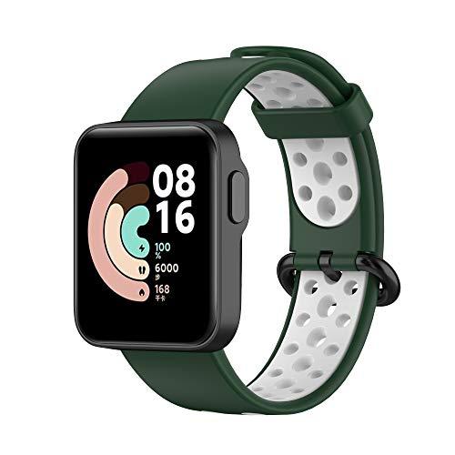 Hoopyeecase Correa Compatible para Xiaomi Mi Watch Lite y Redmi Watch Lite, Silicona Correa de Repuesto, Suave, Respirable y Flexible, Fácil de Instalar,para Hombre y Mujer