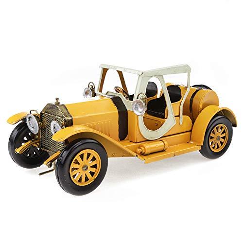 Buy and buy at Brandon Metal Crafts Iron Antique Convertible Classic Car Model Ornaments Creative DecorationsYellowA