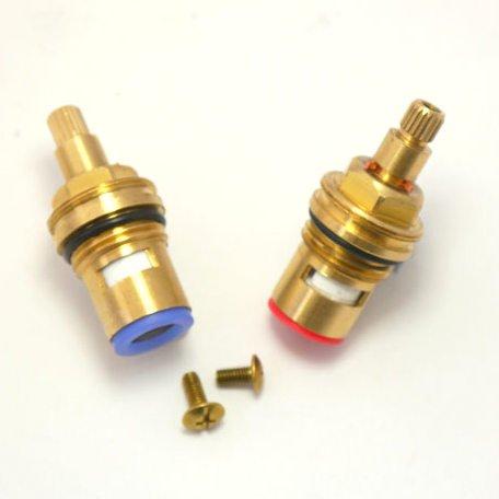 Ceramico Ricambio COPPIA vitoni rubinetto Compatibile con PAINI ASME A112.18.1UPC ANSI NSF61 KK G90 (SHORT STEM 52 millimetri)
