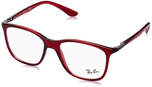 Preisvergleich Produktbild Ray-Ban Unisex-Erwachsene 0RX7143 Brillengestelle,  Rot (Transparente Red),  53