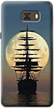 Innovedesire Pirate Ship Moon Night Funda Carcasa Case para Samsung Galaxy C9 Pro