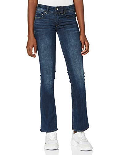 G-STAR RAW Midge Saddle Mid Waist Bootcut Jeans, Dk Aged 6553, 26W / 30L Donna