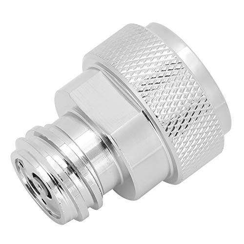 Adaptador de botella de CO2 Buen rendimiento de sellado Adaptador de cilindro de CO2 Material de galvanoplastia de cobre Inflado estable para el adaptador de conversión de refresco doméstico