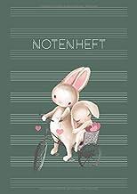 Notenheft: Schule & Unterricht & Hobby | DIN A4 Blanko Notensysteme mit Inhaltsverzeichnis | Musik Schreibheft | große Lin...