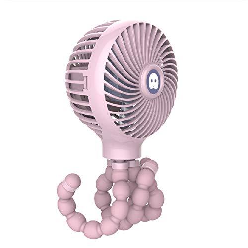 SENFEISM Ventilador eléctrico fresco mini portátil colgante forma pulpo soporte ajustable ventilador de carga portátil refrigerador para cochecito de bebé