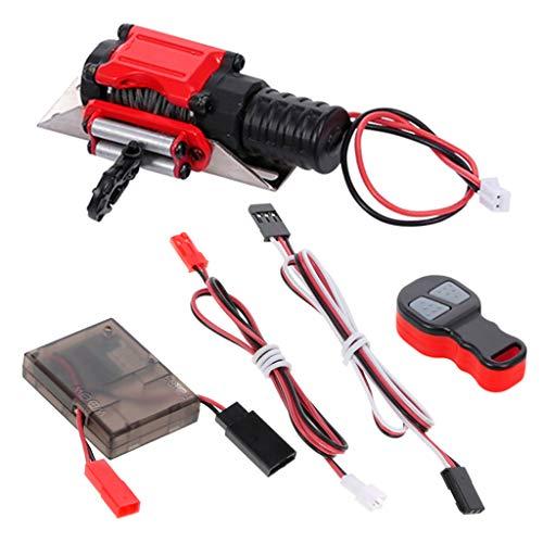 dailymall Elektrische 1: 10 Seilwinde Mit Remote Kit Für RC Rock Crawler Axial SCX10, Traxxas 4, RC4WD, HSP Und Redcat Upgrade Teile