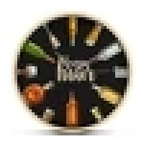 Reloj de Pared Happy Hour Wine Time Wine O'Clock Reloj de Pared con Alcohol Hombre Cueva Pub Bar Decoración de Pared Restaurante Bebedor de Vino Alcohol Regalos Bodega Arte