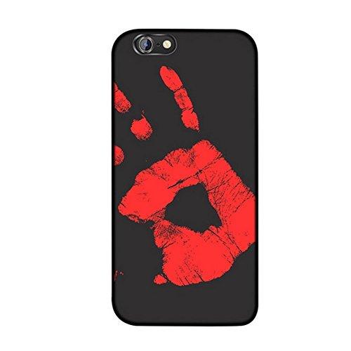 Thermal Heat Induction Funda iPhone 7 / iPhone 8, Mágico Moda Cambio de Color Sensor Térmico Fluorescente Calor Térmico Inducción Heat Sensible Matte Phone Case Cover Negro a Rojo