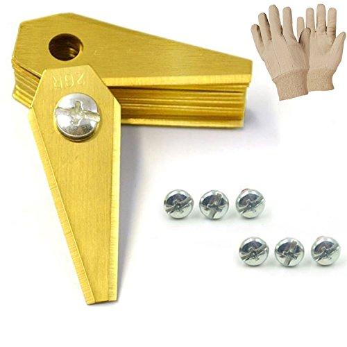 ONVAYA 9 Titan Ersatzmesser für Mähroboter | 1 mm | inkl. GRATIS Handschuhe | Bosch Indego | Rasenmähermesser | Rasentrimmer | Mähroboter Zubehör