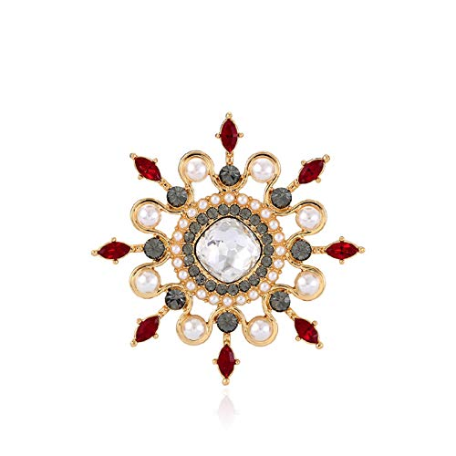 QTBH Brooch Pin Joyería de Corsage, Damas de Temperamento Pin de Ramillete Pin Elegante Broche para Mujeres, Regalo Ideal para Mujeres y niñas Broche para Mujer