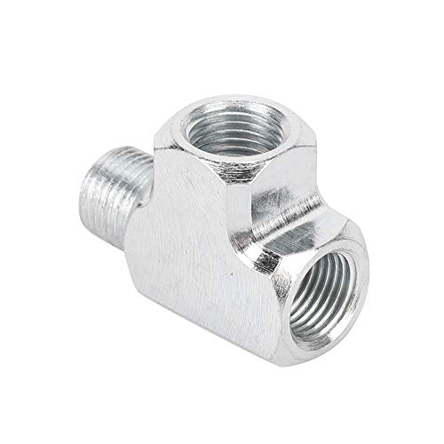 Öl-Wasser-Sensor, Öl-Wasser-Sensor Manometer und Adapter T-Typ T-Rohrverschraubung 1/8 T-3-Wege