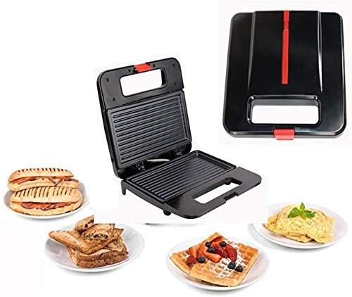 WSJTT toastie Maker Máquina de Hacer sándwiches para Hacer gofres 3 en 1 para Interiores, eléctrica para el Desayuno, Asar a la Parrilla, Tortillas, tostadora