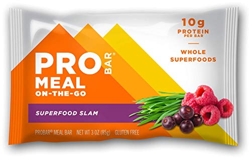 PROBAR - Meal Bar, Superfood Slam, Non-GMO, Gluten-Free, Certified Organic, Healthy, Plant-Based Whole Food Ingredients, Natural Energy (9 Count)