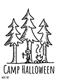 wiese-art Camp Halloween Postkarte A6 - champing, forest