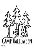 wiese-art Camp Halloween Postkarte A6 - champing, forest