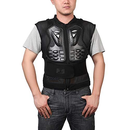 DDXY-Herren Motorrad Body Armours Outdoor Sportschutzausrüstung,Brust Schulter Rückenschutz Protector Armors Jacket,Stoßfest Atmungsaktiv,Schwarz,XXL