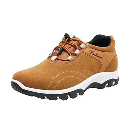 VECDY Herren Schuhe,Weihnachten Geschenke- Herbst Neue Männer Beiläufige laufende Schuhe der zufälligen im Freien wandernden Schuhe Stretch Stiefel schwarz Grau Blau Braun 39-44