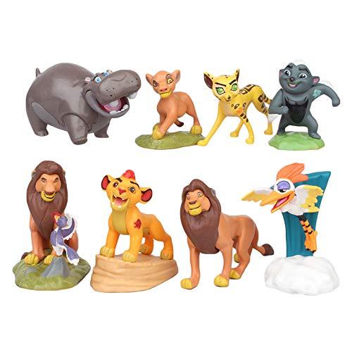 Ukgjhejjh The Lion King Spielzeug Figuren Kuchendekoration 8 Stück Animal Set Spielzeug for Party Favors & Geburtstags-Geschenke (Color : A01, Size : 8cm)