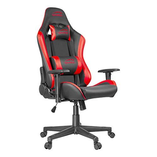 Speedlink XANDOR Gaming Chair - Schreibtischstuhl - bequemes Sitzen für lange Gaming Sessions - stabiles und robustes Material, schwarz-rot