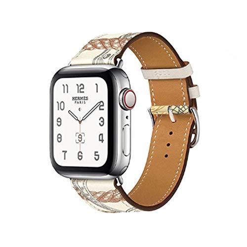 Brting Sorteo Correa de Cuero para Apple Watch 6 Band 44mm 40 mm Iwatch Band 38mm 42mm Deporte Pulsera de Silicona para Apple Watch 6 5 4 3 42 40 38 44 mm