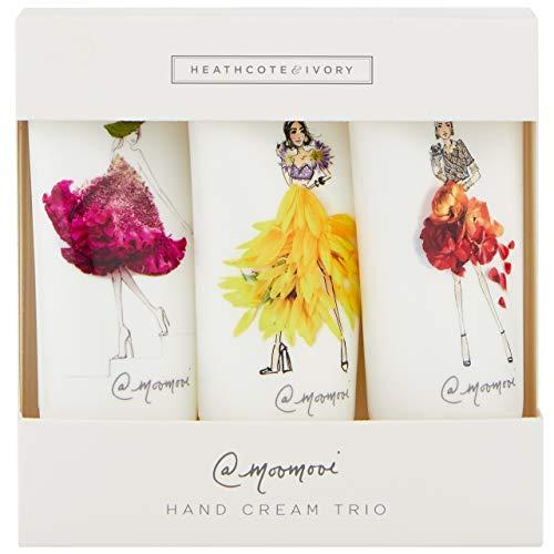 Heathcote & Ivory Meredith Wing Hand Cream Trio Geschenkbox Reisegröße, 3 x 30 ml