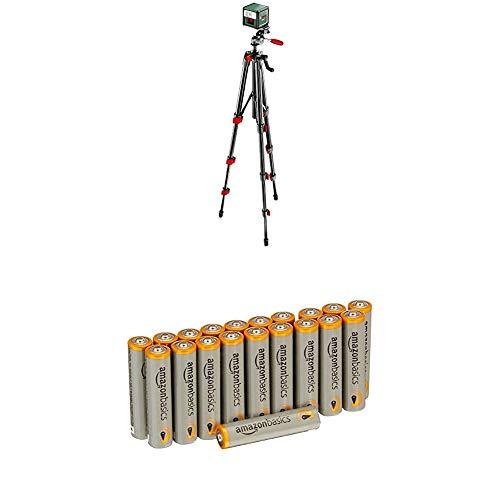 Bosch Laser ligne en croix Quigo + portée 7 m avec trépied 1,1m 0603663600 avec piles Amazon Basics