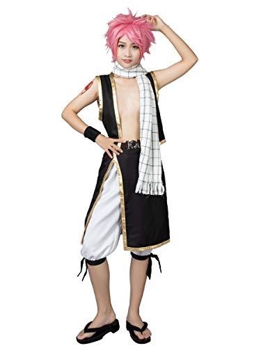 Cosfun MP000115 Anime Natsu Cosplay Kostüm und Schal -  mehrfarbig -  Herren Medium