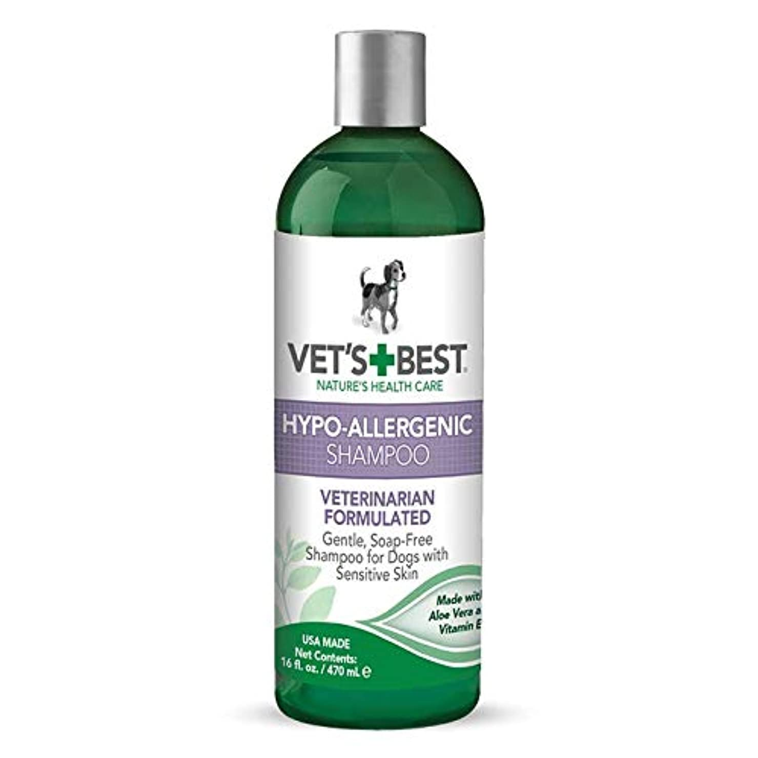 援助するロールシマウマVet's Best Natural Formula Hypo-Allergenic Shampoo Gentle Soap Free for Dog 16oz