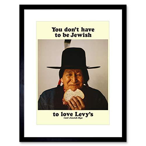 Advert Food LEVY RYE Bread Native American Jewish Framed Art Print B12X3138