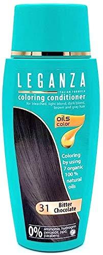 SPARSET 2 x Leganza Färbender Conditioner Farbe 31 Dunkle Schokolade Mit 7 Natürlichen Ölen Ammoniak und Paraben frei