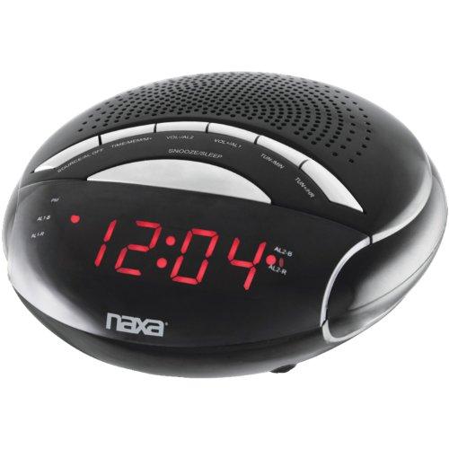 Naxa Nrc170 Digital Alarm Clock with Am/fm Radio by Naxa Electronics