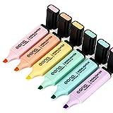 Marca Amazon – Eono Highlighters, Rotulador de punta de cincel, colores surtidos, a base de agua, se...